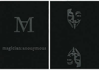 Send Gift Card Anonymously - magician s anonymous playing cards 10 50 magician anonymous vanishing inc