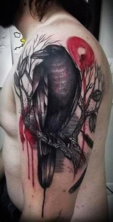 55 artistic raven tattoo designs