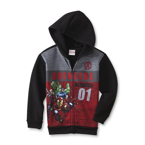 Jaket Hoody Marvel marvel boys fleece hoodie jacket