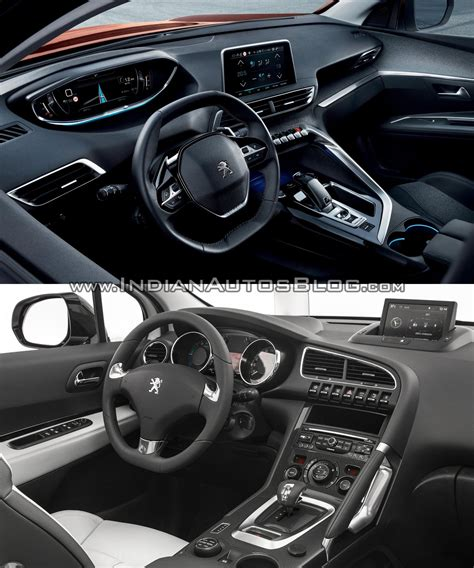 peugeot 3008 2016 interior peugeot 3008 interior old vs new indian autos blog