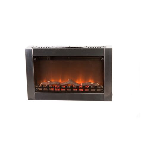electric in wall fireplace stainless steel wall mounted electric fireplace