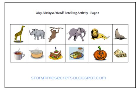 Book Fright Time Creatures Who Am I Etc story time secrets learning activities for favorite children s books may i bring a friend