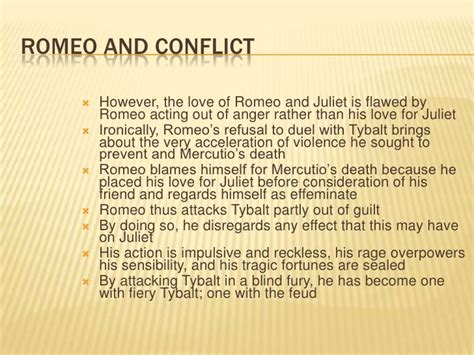 themes of conflict in romeo and juliet act 3 scene 1