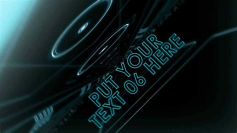 template after effects tron legacy free after effects template tron text presentation youtube