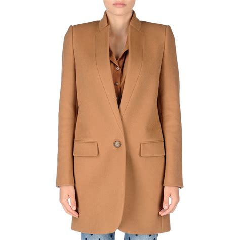 Stella Naturals All In One stella mccartney camel bryce coat in lyst
