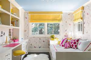 pink and yellow bedroom ideas timorous beasties butterflies wallpaper contemporary