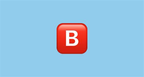 b iphone emoji negative squared capital letter b emoji