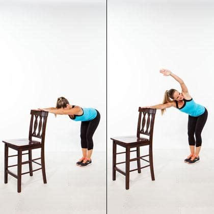 chair exercises at work for stomach 62 best waist images on