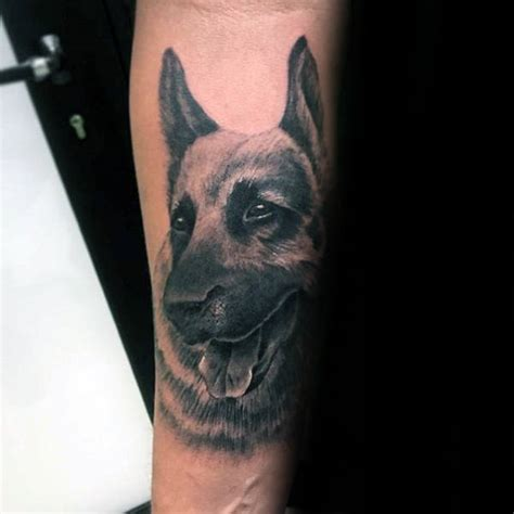 30 german shepherd tattoo designs for men dog ink ideas