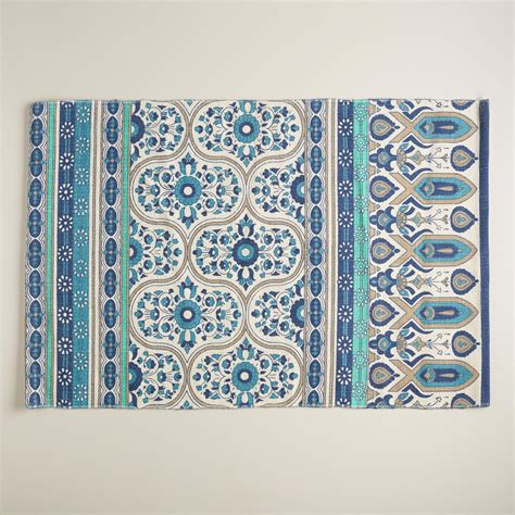 World Market Outdoor Rugs 2 X3 Blue Floral Reversible Indoor Outdoor Rug World Market