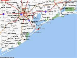houston galveston map pin map to galveston on