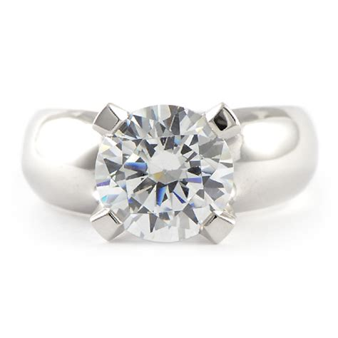 wide band solitaire engagement ring custom wixon jewelers