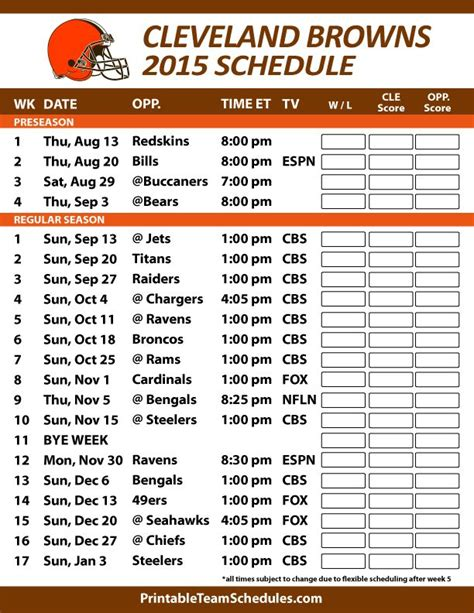 printable nfl schedule with channels best 25 cleveland browns schedule ideas on pinterest