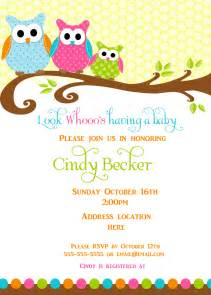 owl baby shower invitations free items similar to owl baby shower invitation thank you