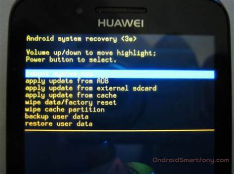 download how to manually wipe data factory reset the htc r 233 initialisation huawei ascend y511 r 233 initialiser les