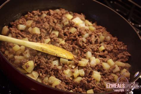 ground beef and potato tostada recipe ez meals online