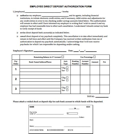 generic consent form template 5 generic direct deposit form templates formats