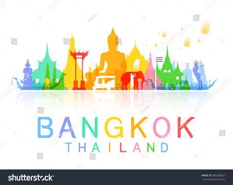 Thailand Address Lookup Bangkok Thailand Travel Vector And Illustration 385200937