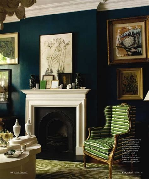 Blue Green Living Room Walls by Projectbistrochic Christine Dovey