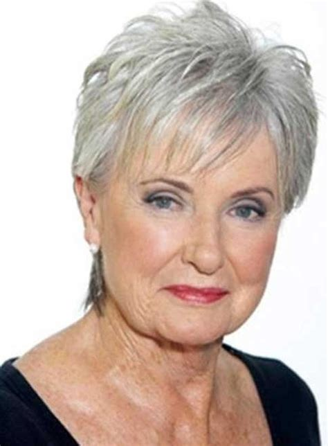 hairstyle for older women with square face short gray hairstyles for older women going 2016 stock