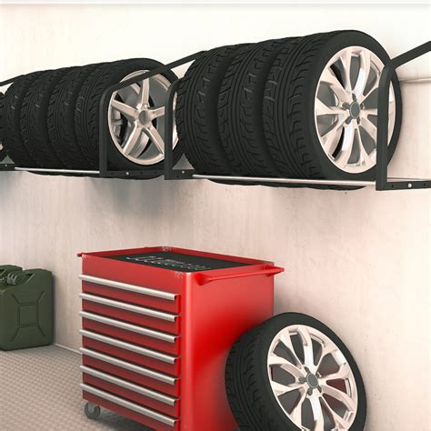 Wall Mounted Tire Rack by Tire Rack Wall Shelf Wall Mounted Tire Holder Wheel Storage Racking Garage Ebay