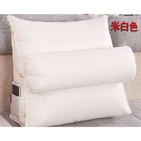 twill bed rest navy pillow back support arm stable tv chair bed pillow adjustable sofa bed chair rest neck