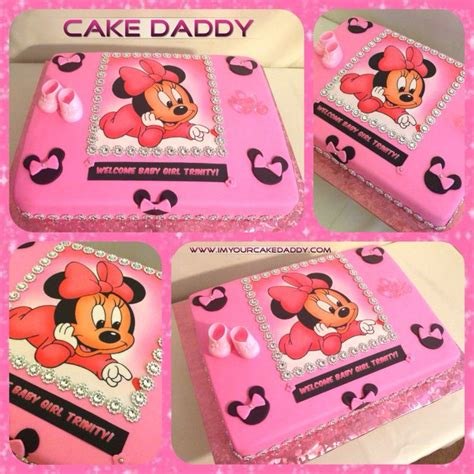 Minnie Mouse Baby Shower Cake by Minnie Mouse Baby Shower Cake Custom Cakes By Cake Babies Minnie Mouse