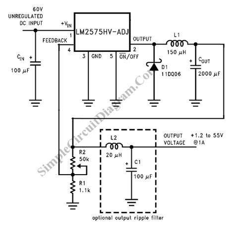 Ic Lm2673 switching voltage regulator circuit diagram circuit and schematics diagram
