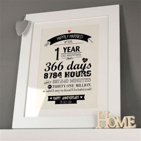 1st Wedding Anniversary Ideas Uk