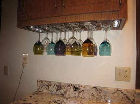 under cabinet wine glass rack wine glass rack under cabinet good place for install