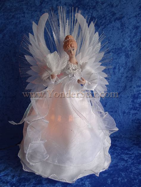 14 quot angel fiber optic tree topper