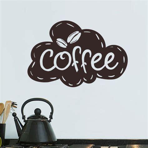 kitchen wall vinyl stickers coffee kitchen wall tea sticker vinyl decal restaurant