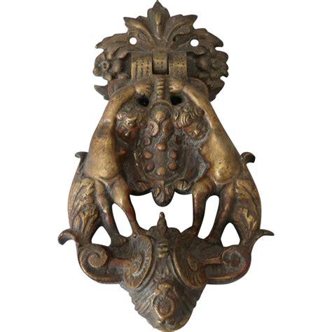 Brass Door Antique by Antique Brass Door Knocker With Cherubs From