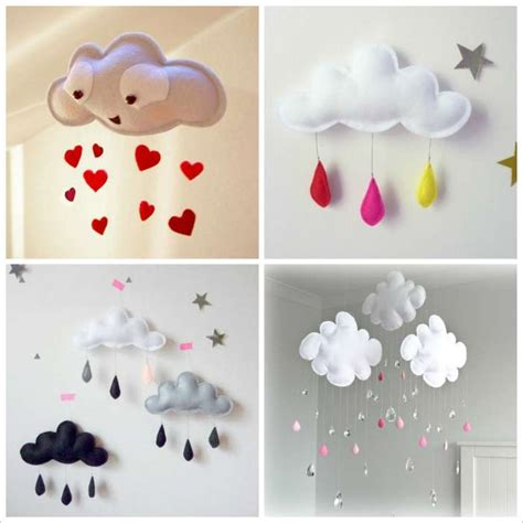 craft this cloud mobile for your baby nursery - Crafts For Baby Room