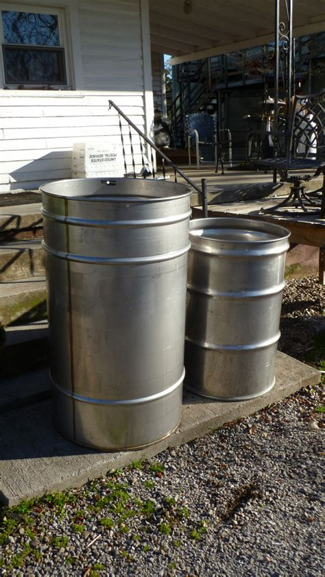 100 gallon barrel 100 gallon stainless steel drum bubba s barrels