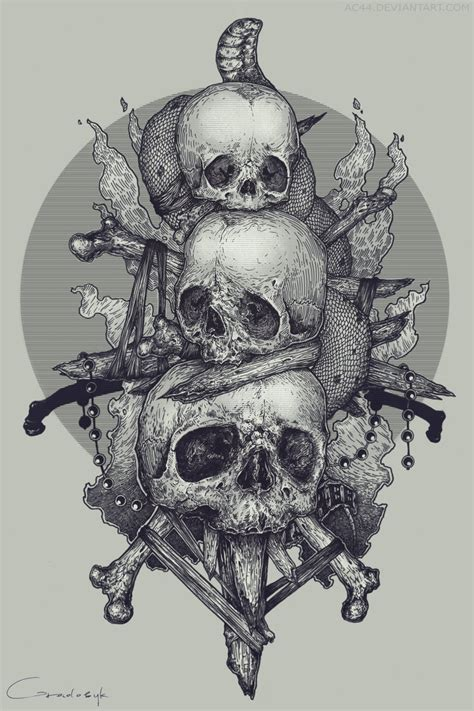 skulls by ac44 on deviantart