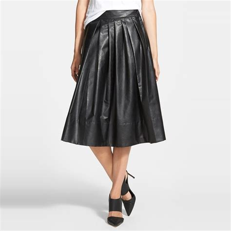 rank style the ten best pleated faux leather skirts