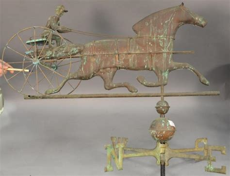 Horse And Sulky Weathervane Copper With Directions Mid To | horse and sulky weathervane copper with directions mid to