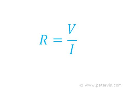 resistor equations ohm s