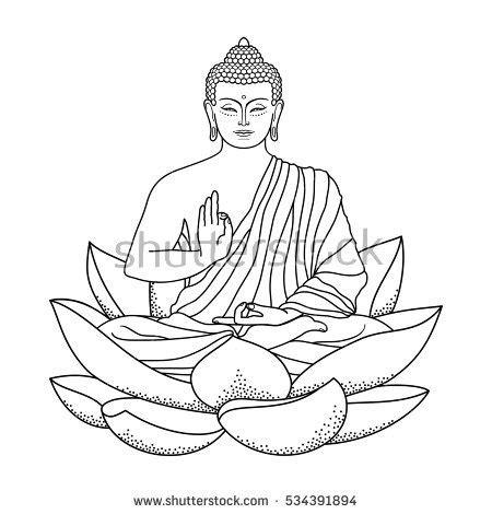 thai buddha statue stock vector 491048563 shutterstock