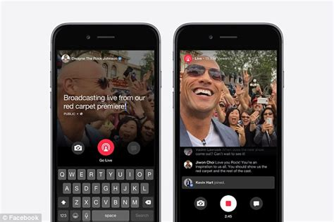 uk celebrities on facebook facebook takes on twitter s periscope with live video