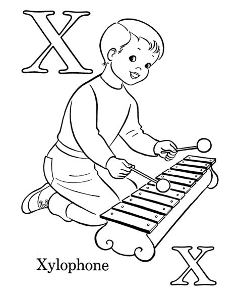 Letter X Coloring Pages Preschool by Preschool Coloring Pages Alphabet Az Coloring Pages