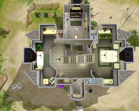 Housing Floor Plans Free mod the sims shell cottage from harry potter