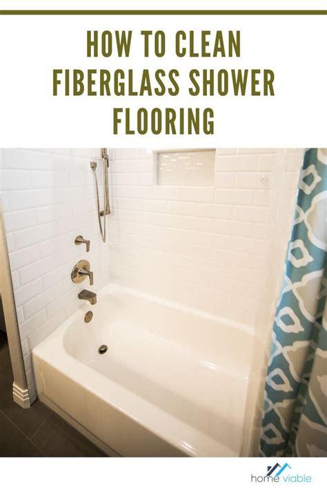clean  fiberglass shower floor  pan