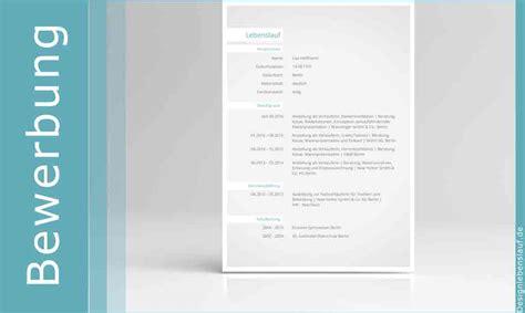 Lebenslauf Vorlage Zum Kopieren by Bewerbung Muster Mit Anschreiben Und Lebenslauf