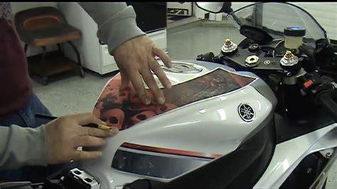 auto trim design precut motorcycle graphic installation