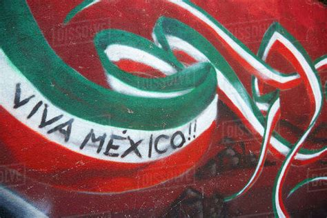 mexico wall painted  celebrate colors  mexican flag