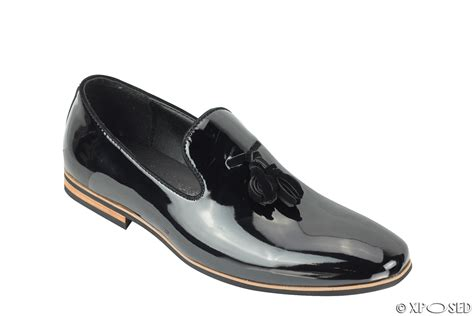 mens patent loafers mens tassel loafers shiny patent leather line slip on