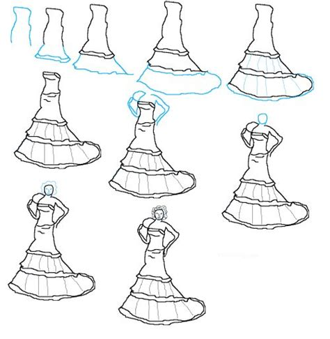 design dress step by step 17 best images about fashion design sketches on pinterest