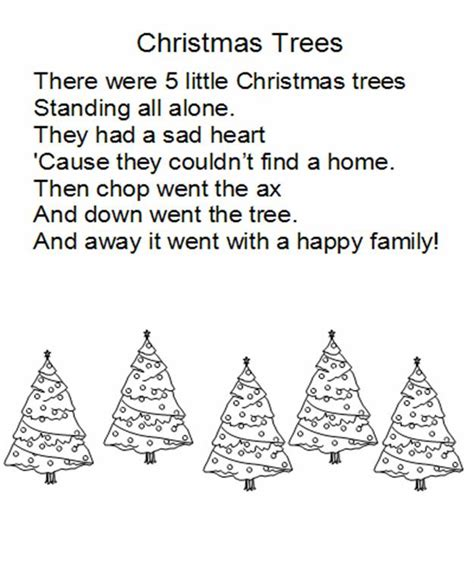 christmas tree poems for children kindergarten balanced literacy kindertips december ideas